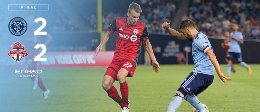 NYCFC Tie 2-2 With Toronto In Midweek Action