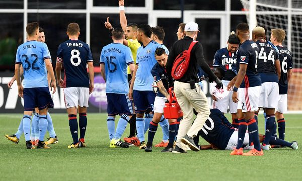 Harrison Sent Off As NYCFC Fall In New England